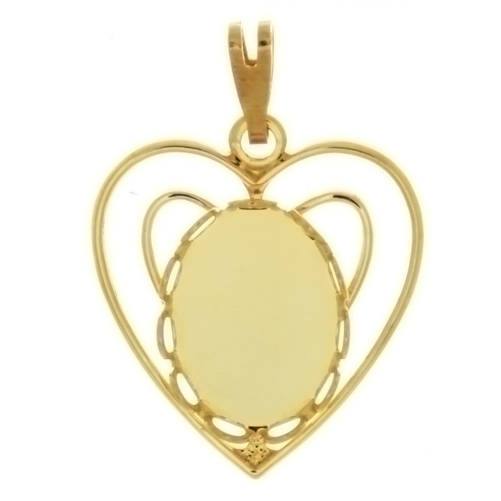 CABOCHON HEART 10 X 14 MM PENDANT