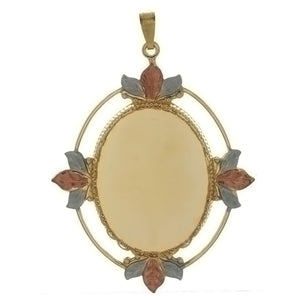 CABOCHON FRAMED LEAF 30 X 40 MM PENDANT