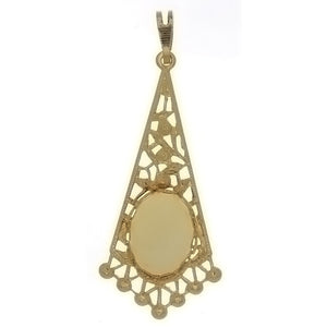 CABOCHON FILIGREE 10 X 14 MM PENDANT