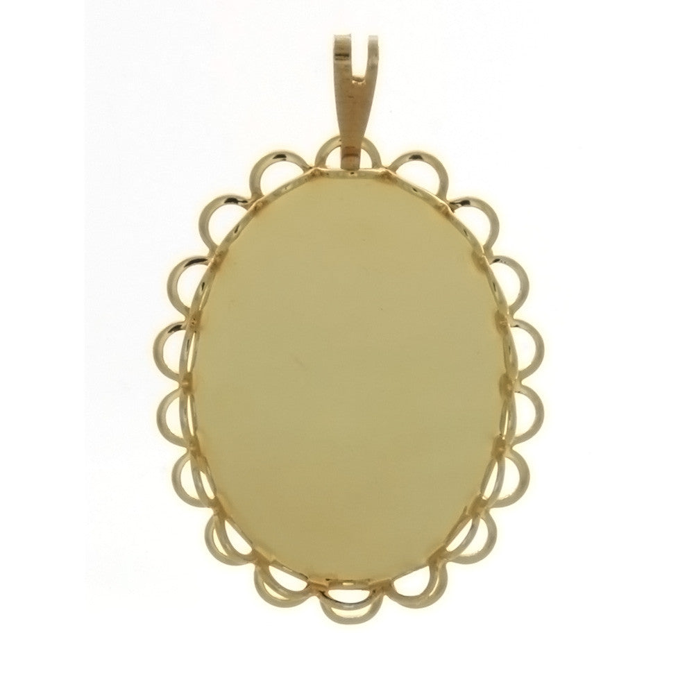 CABOCHON FRAMED LACE 18 X 25 MM PENDANT
