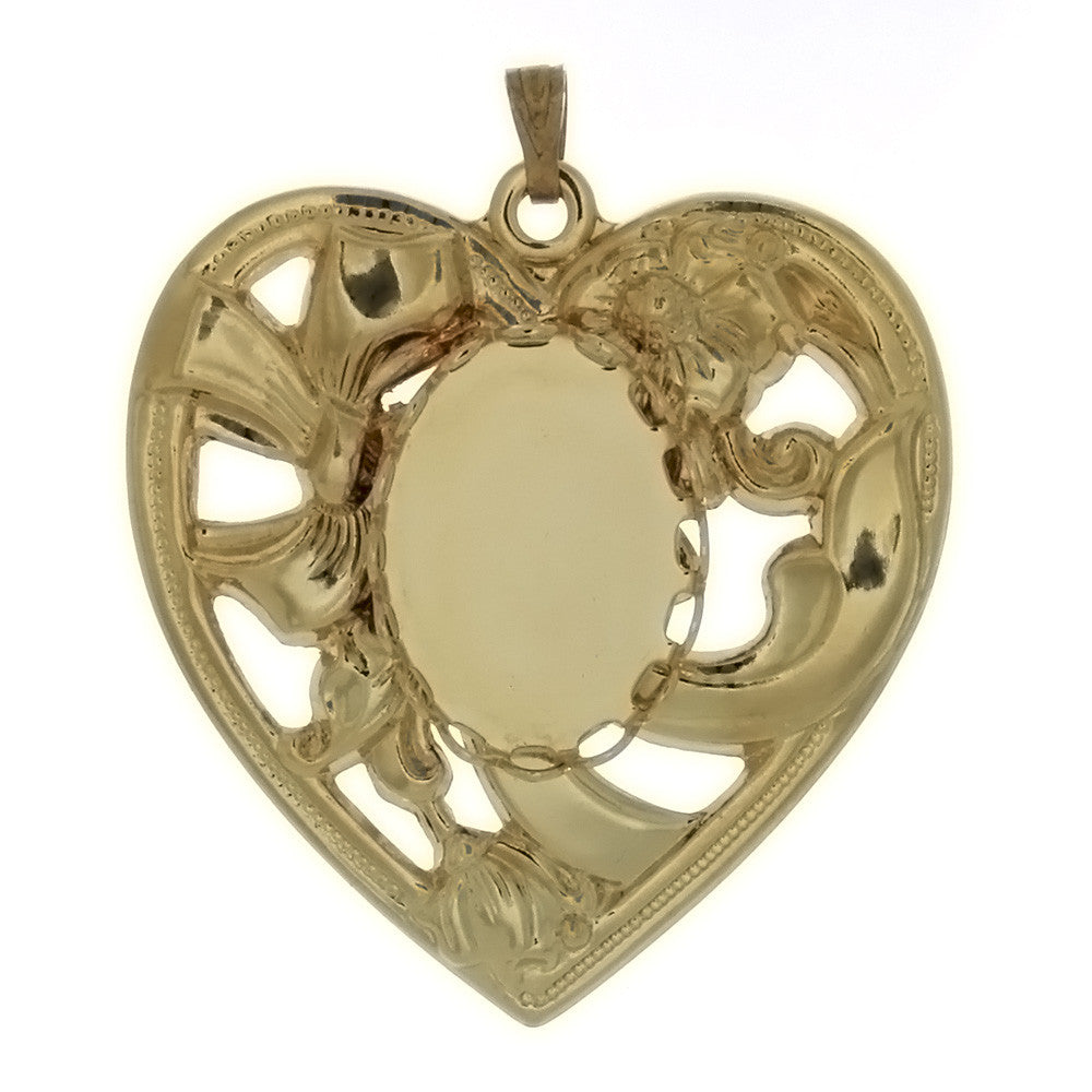 CABOCHON HEART 13 X 18 MM PENDANT
