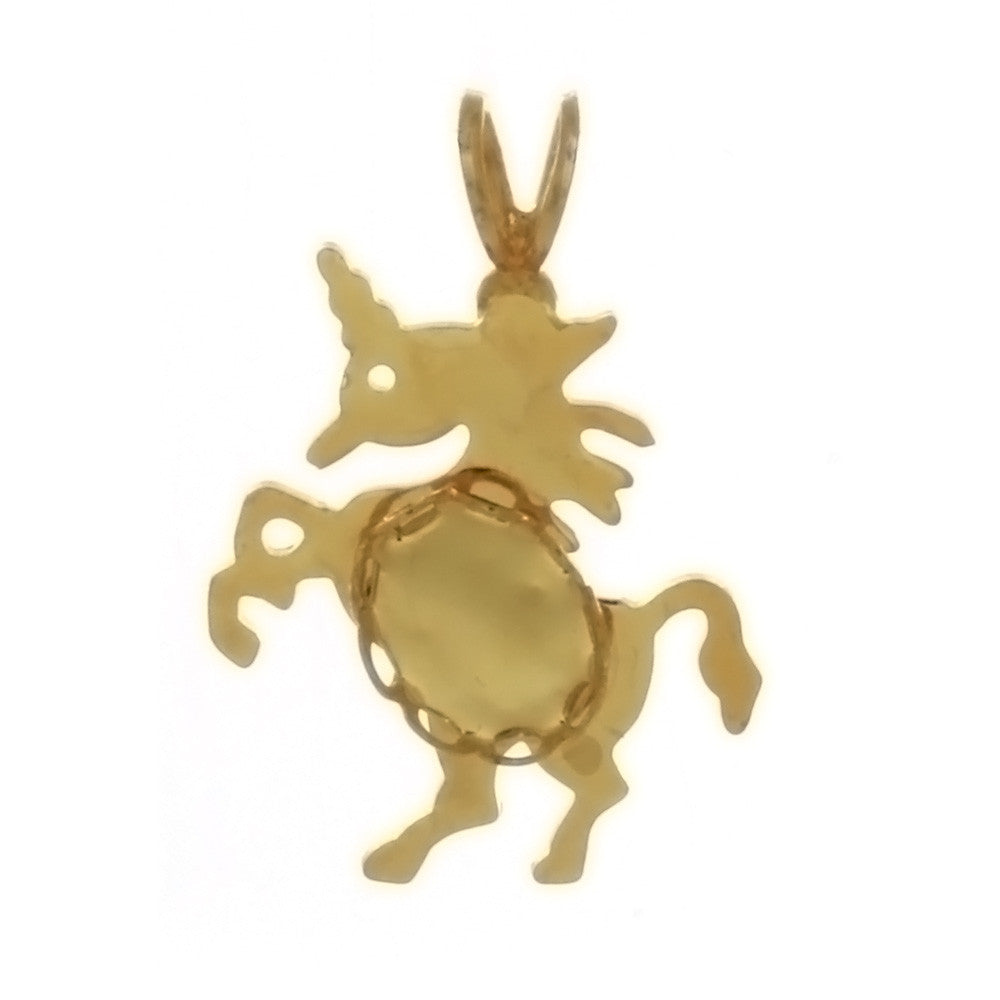 CABOCHON UNICORN 6 X 8 MM PENDANT