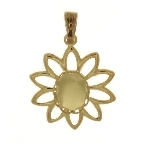 CABOCHON FLOWER 6 X 8 MM PENDANT
