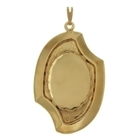 Cabochon Setting Curve Pendant Holds 18x25 mm Cabochon