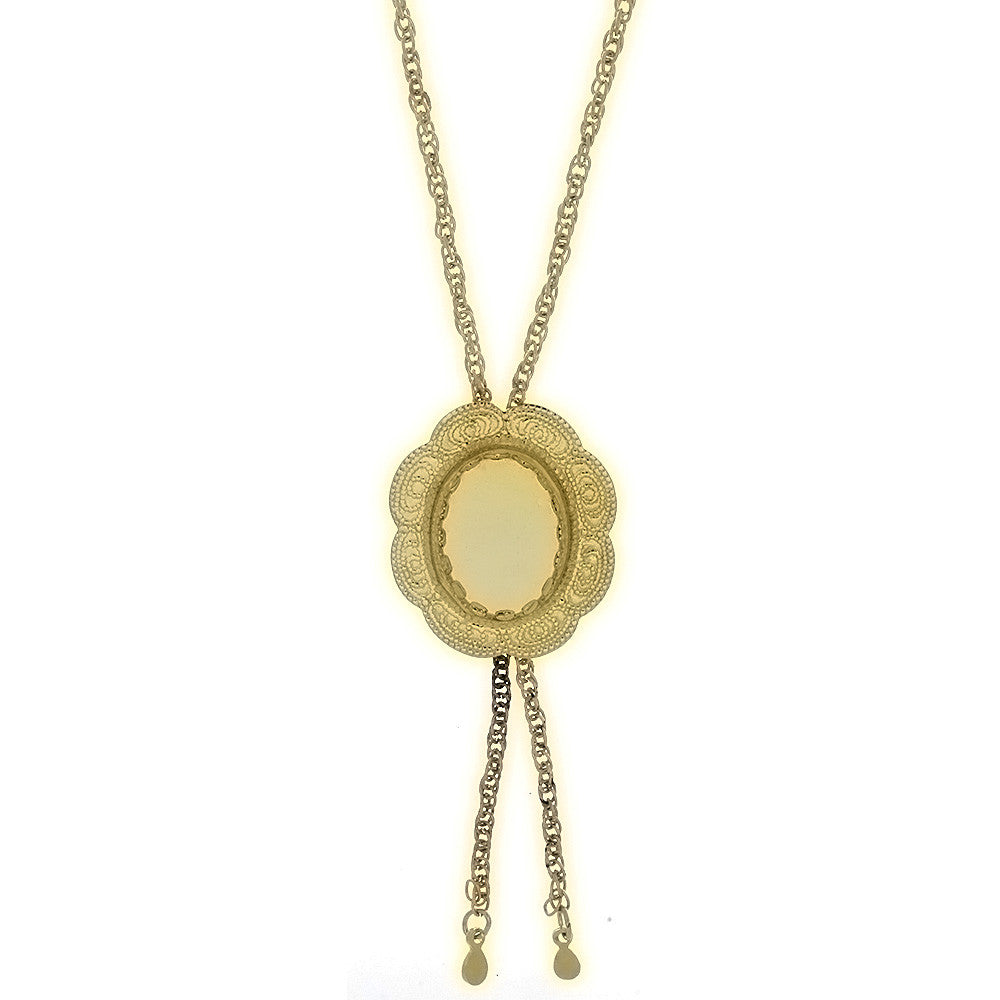 CHAIN CABOCHON BOLO 13 X 18 MM NECKLACE