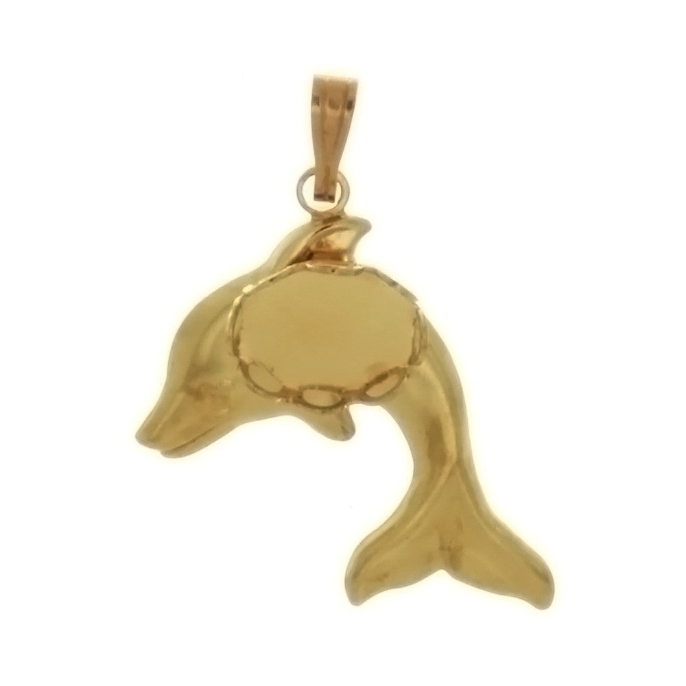 CABOCHON DOLPHIN 4 X 6 MM PENDANT