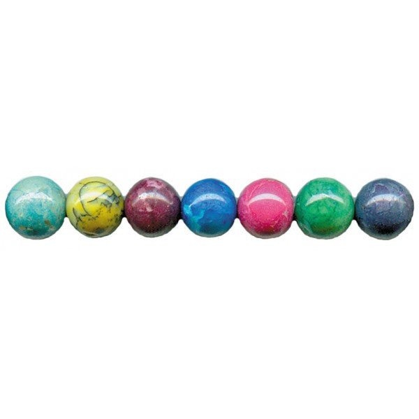 BEADS 10MM ROUND MULTI COLOR AGATE