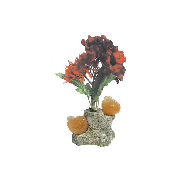 GEMSTONE CARVING RUSSIAN DOLOMITE CELENITE BIRD STAND