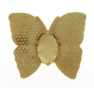 BROOCH CABOCHON BUTTERFLY 10 X 14 MM FINDING