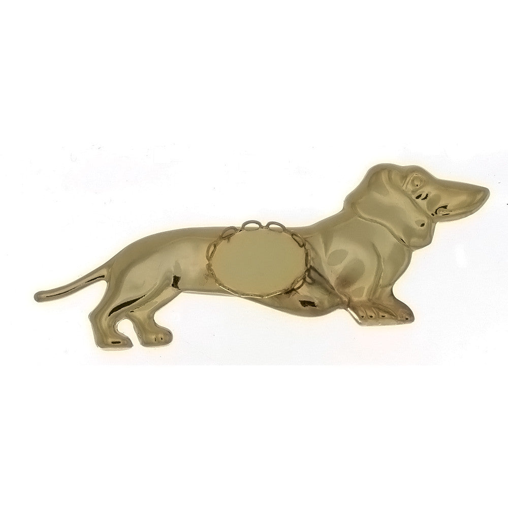 BROOCH CABOCHON DACHSUND 10 X 14 MM FINDING