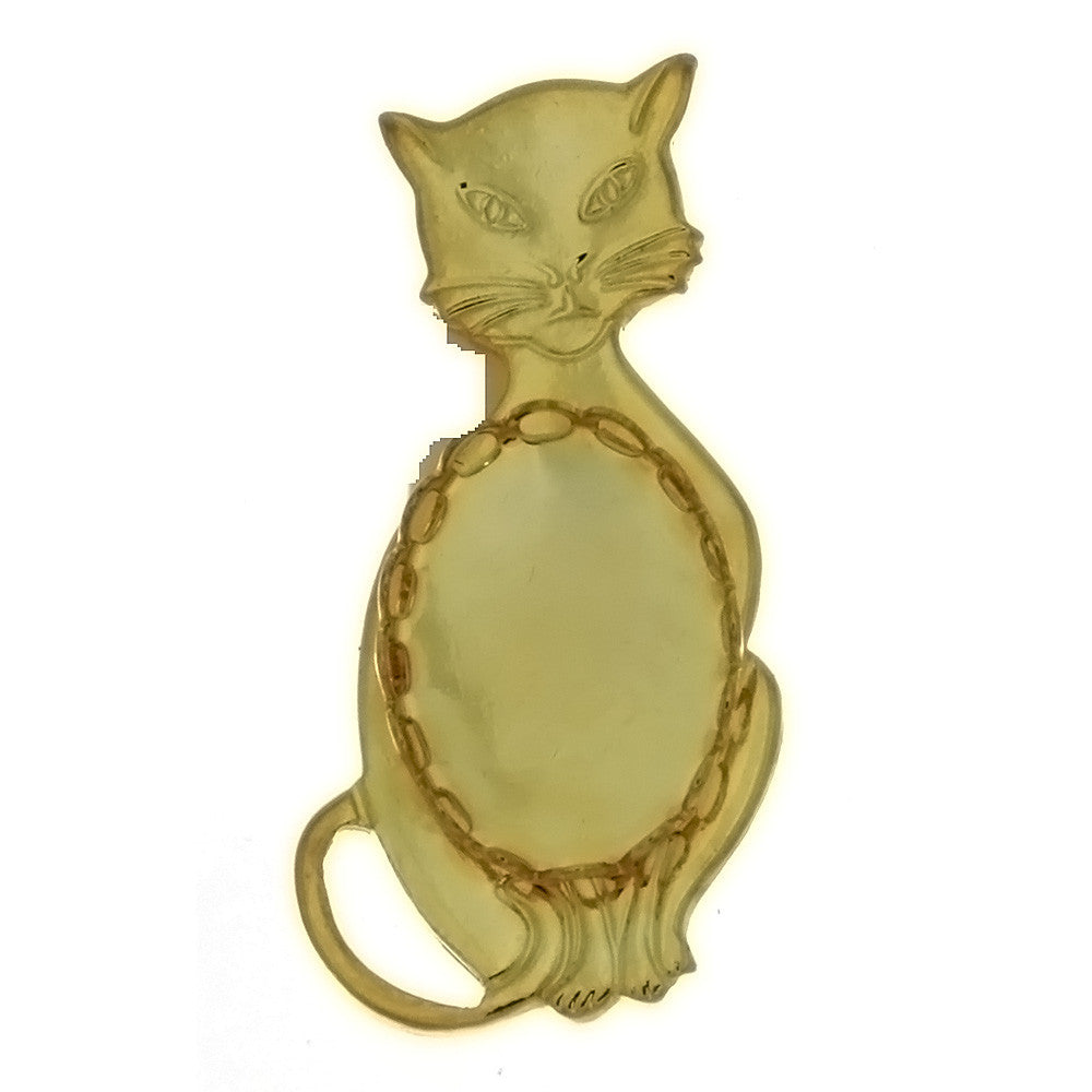BROOCH CABOCHON CAT 13 X 18 MM FINDING