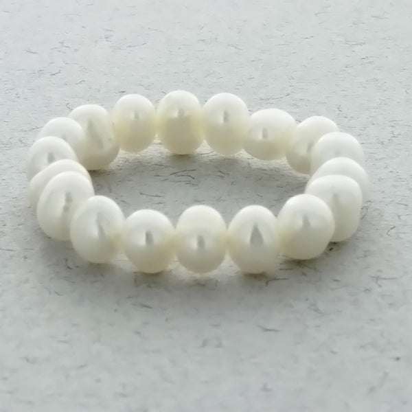 ADJUSTABLE STRETCH FRESHWATER PEARL POTATO RING