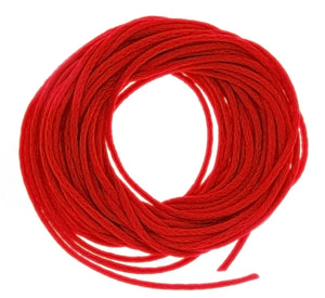 CORD SATIN RED 2 MM 6 YD