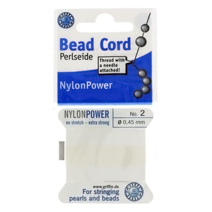CORD NYLON WHITE NO 2 2 M