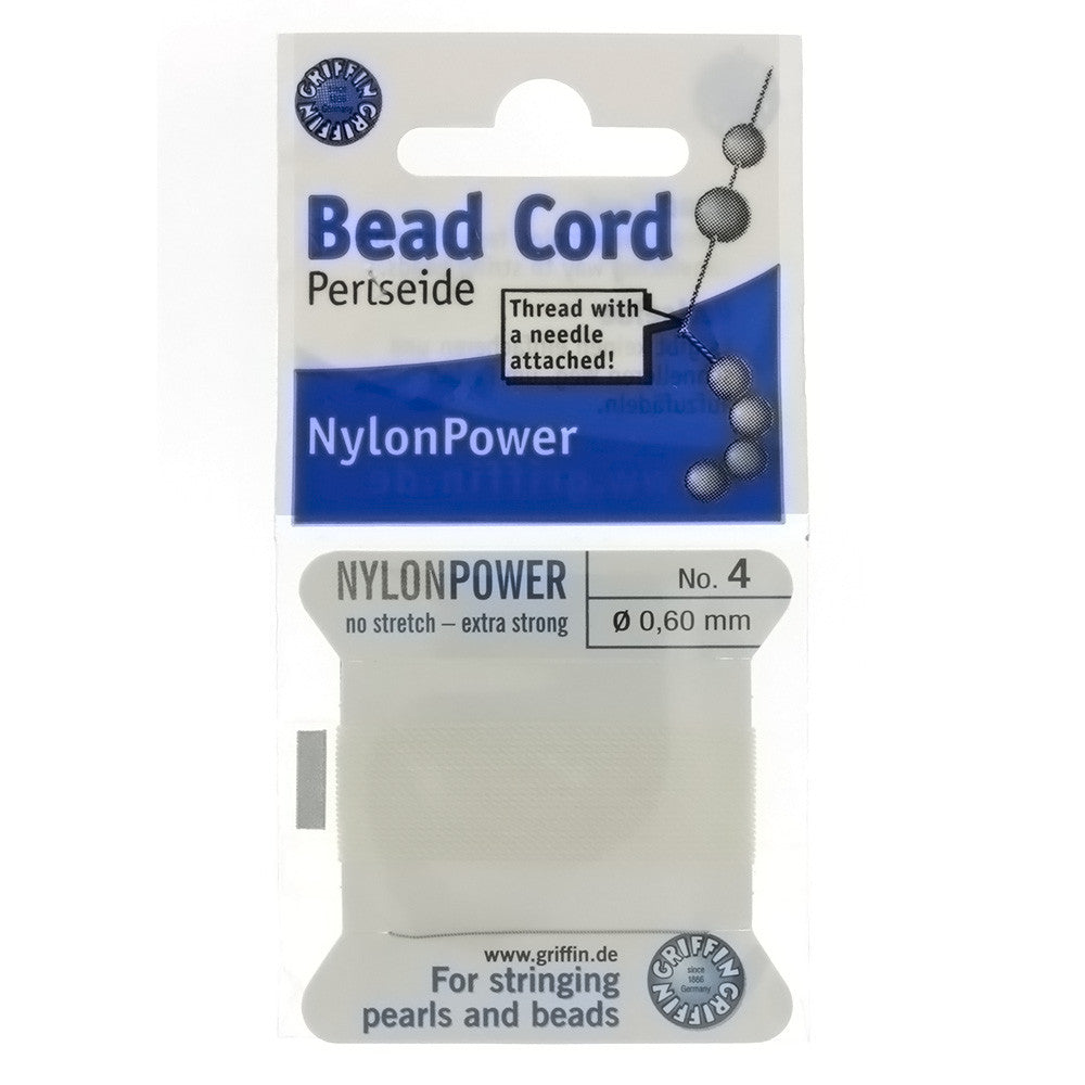 CORD NYLON WHITE NO 4 2 M
