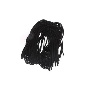 CORD SUEDE BLACK 2 MM 1 DOZ