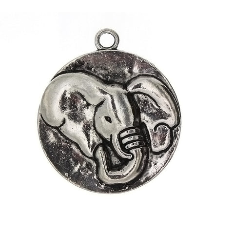 ANIMAL ELEPHANT 38 MM PEWTER CHARM