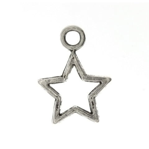 DESIGN STAR 14 X 22 MM PEWTER CHARM