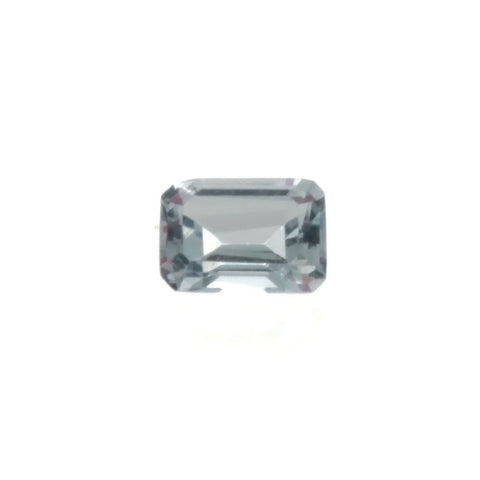 CUBIC ZIRCONIA AQUAMARINE RECTANGLE FACETED GEMS