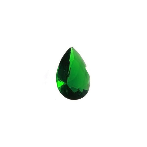 CUBIC ZIRCONIA EMERALD TEARDROP FACETED GEMS