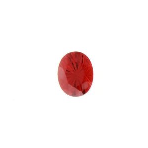SIMULATED GARNET YAG OVAL FACETED GEMS