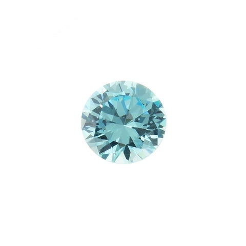 CUBIC ZIRCONIA AQUAMARINE ROUND GIANT FACETED GEMS