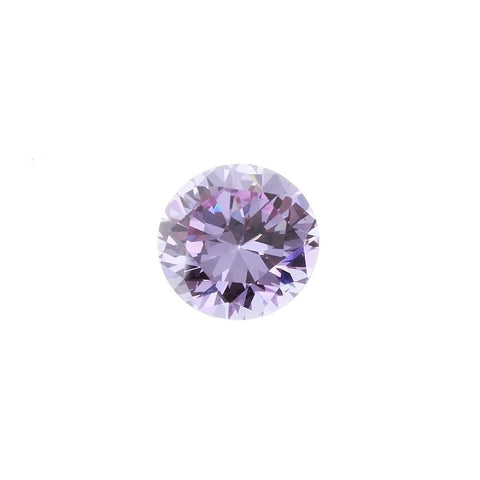CUBIC ZIRCONIA AMETHYST LAVENDER ROUND GIANT FACETED GEMS