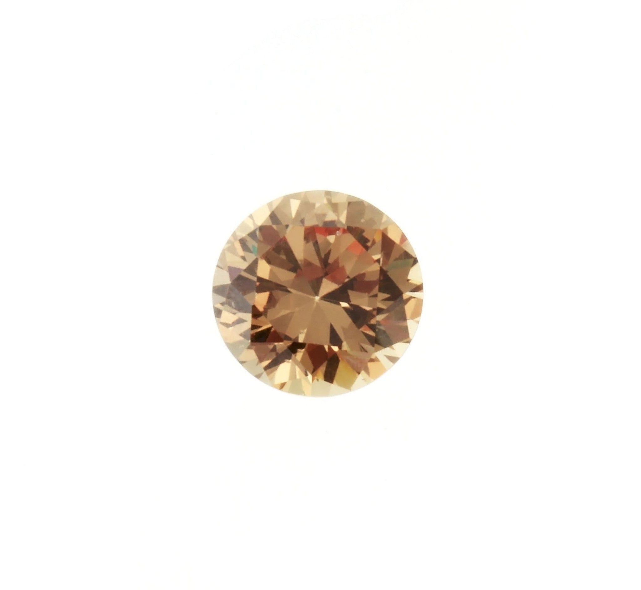 CUBIC ZIRCONIA TOPAZ IMPERIAL ROUND GIANT FACETED GEMS
