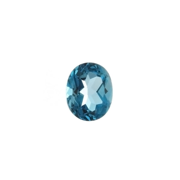 GEMSTONE TOPAZ BLUE LONDON OVAL FACETED GEMS