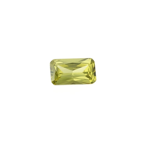 CUBIC ZIRCONIA GASPEITE RECTANGLE FACETED GEMS