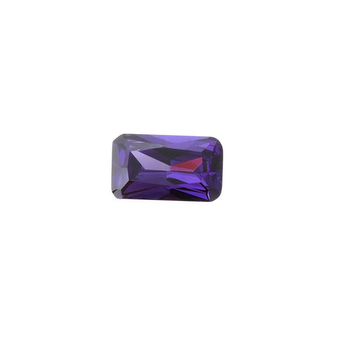 CUBIC ZIRCONIA CHAROITE RECTANGLE FACETED GEMS