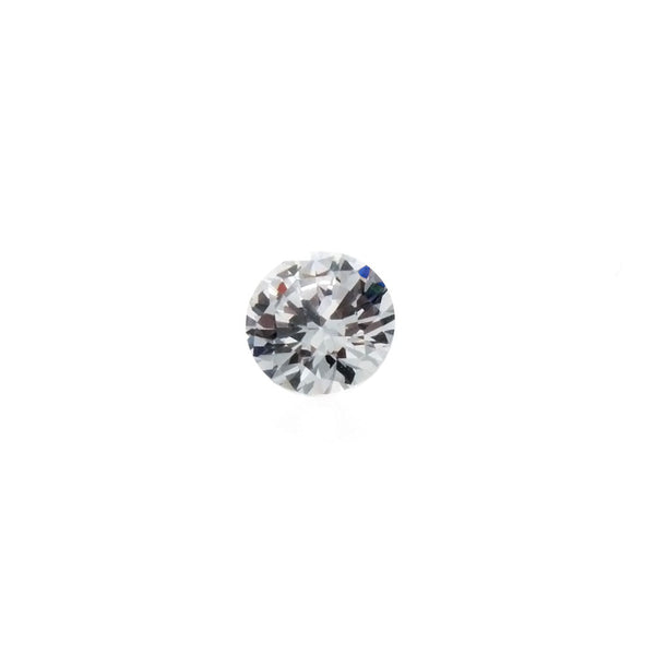 CUBIC ZIRCONIA QUARTZ CRYSTAL ROUND FACETED GEMS
