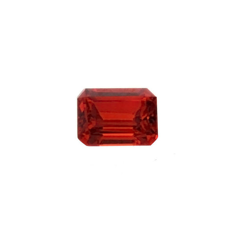 CUBIC ZIRCONIA GARNET RED RECTANGLE FACETED GEMS