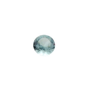 CUBIC ZIRCONIA AQUAMARINE ROUND FACETED GEMS