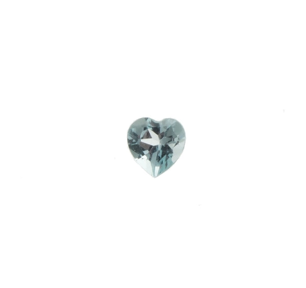CUBIC ZIRCONIA AQUAMARINE HEART FACETED GEMS