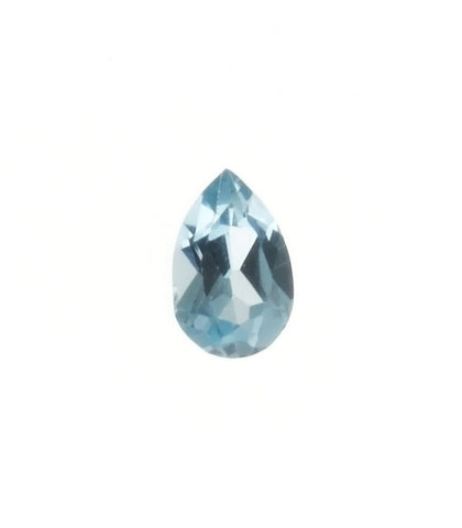 CUBIC ZIRCONIA AQUAMARINE TEARDROP FACETED GEMS
