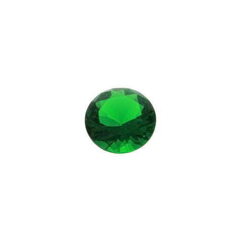 CUBIC ZIRCONIA EMERALD ROUND FACETED GEMS