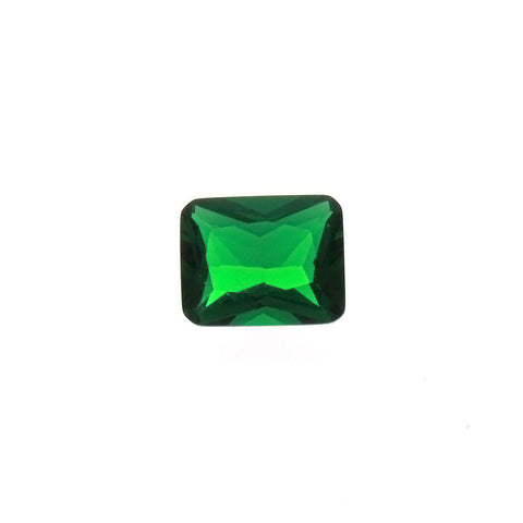 CUBIC ZIRCONIA EMERALD RECTANGLE FACETED GEMS