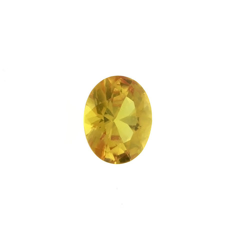 CUBIC ZIRCONIA CITRINE GOLDEN OVAL FACETED GEMS