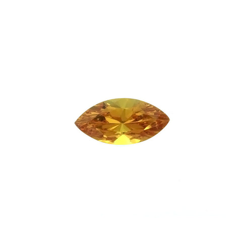 CUBIC ZIRCONIA CITRINE GOLDEN MARQUIS FACETED GEMS