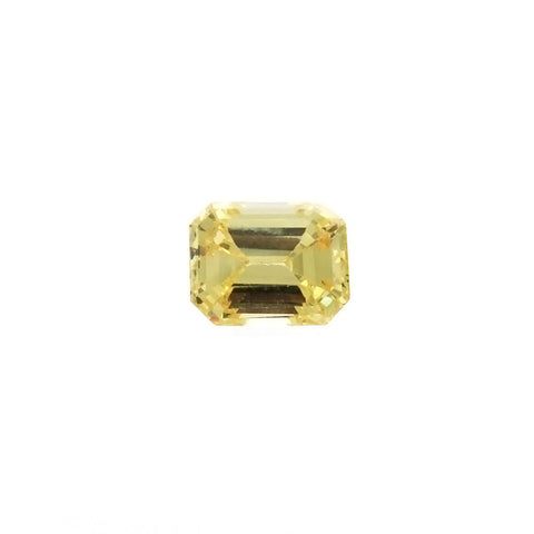 CUBIC ZIRCONIA CITRINE GOLDEN RECTANGLE FACETED GEMS