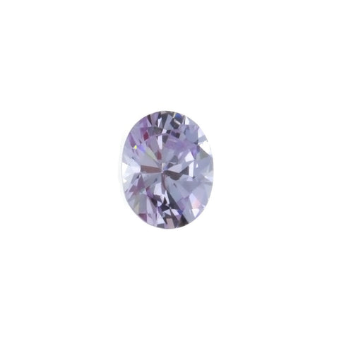 CUBIC ZIRCONIA AMETHYST LAVENDER OVAL FACETED GEMS