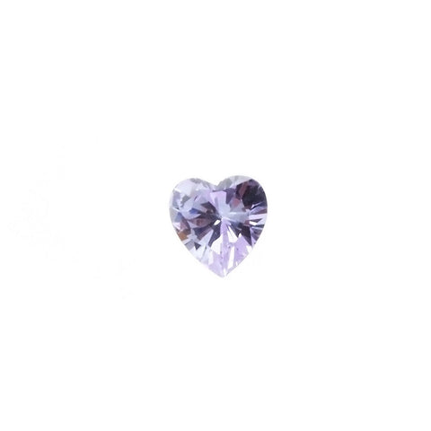 CUBIC ZIRCONIA AMETHYST LAVENDER HEART FACETED GEMS