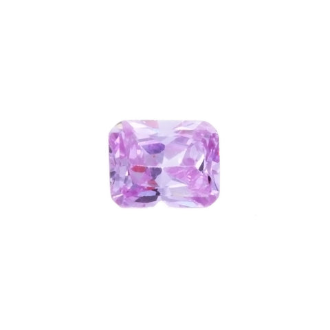 CUBIC ZIRCONIA AMETHYST ROSE DE FRANCE RECTANGLE FACETED GEMS