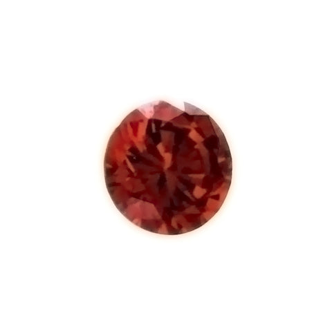 CUBIC ZIRCONIA GARNET RED ROUND FACETED GEMS