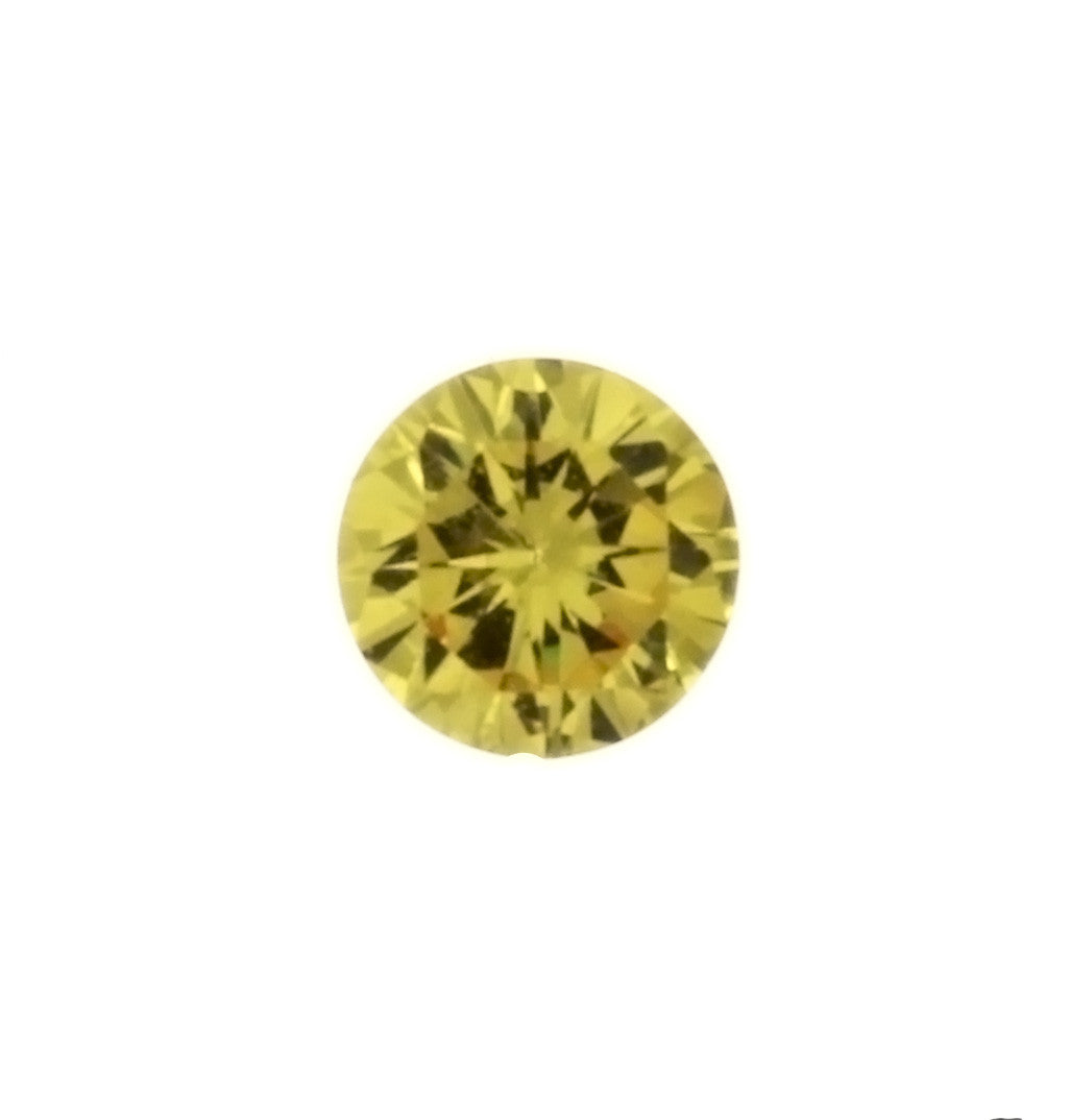 CUBIC ZIRCONIA CITRINE GOLDEN ROUND FACETED GEMS