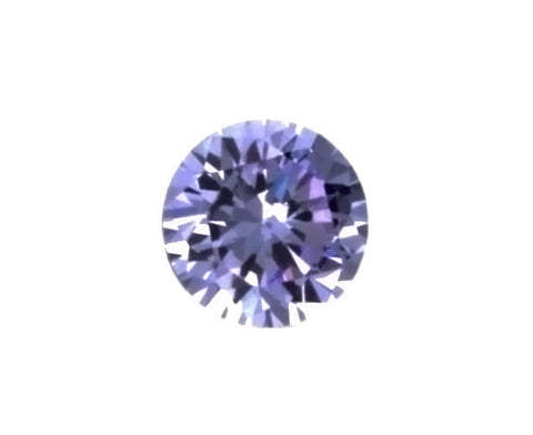 CUBIC ZIRCONIA AMETHYST LAVENDER ROUND FACETED GEMS