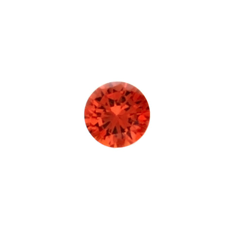 CUBIC ZIRCONIA CARNELIAN ROUND FACETED GEMS