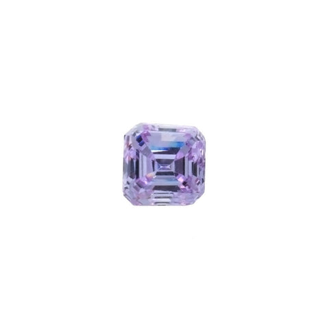 CUBIC ZIRCONIA AMETHYST LAVENDER SQUARE FACETED GEMS