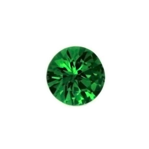 SIMULATED EMERALD YAG ROUND FACETED GEMS